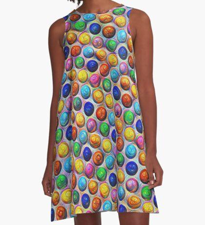 Color Dots #DeepDream A-Line Dress