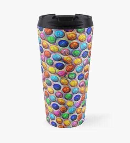 Color Dots #DeepDream Travel Mug