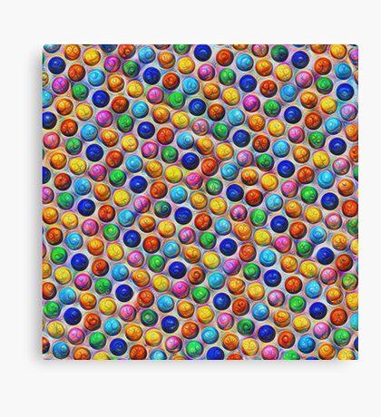 Color Dots #DeepDream Canvas Print