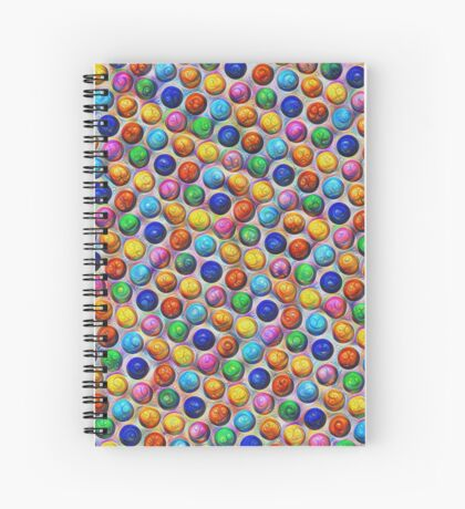 Color Dots #DeepDream Spiral Notebook