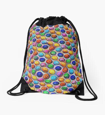 Color Dots #DeepDream Drawstring Bag