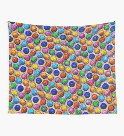 Color Dots #DeepDream Wall Tapestry