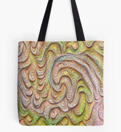 Frozen spring wave #DeepDream #Art | Sasalusais pavasara vilnis Tote Bag