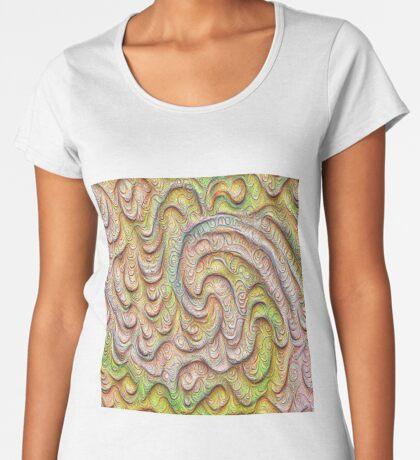 Frozen spring wave #DeepDream #Art   Sasalusais pavasara vilnis Premium Scoop T-Shirt