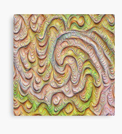 Frozen spring wave #DeepDream #Art | Sasalusais pavasara vilnis Canvas Print