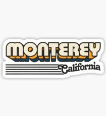 Monterey, California | Retro Stripes Sticker