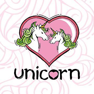 Doodle Love Unicorn by AgusSetyoHadi