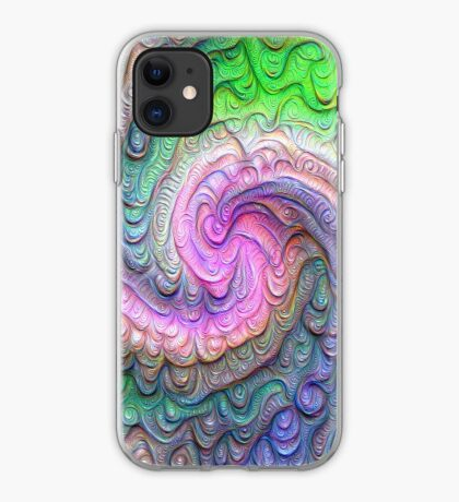 Frozen color Wave #DeepDream #Art iPhone Case