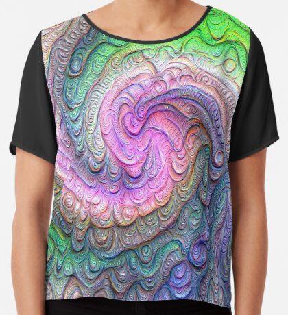 Frozen color Wave #DeepDream #Art Chiffon Top