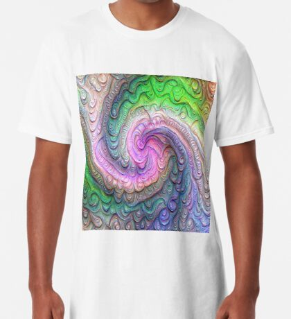 Frozen color Wave #DeepDream #Art Long T-Shirt
