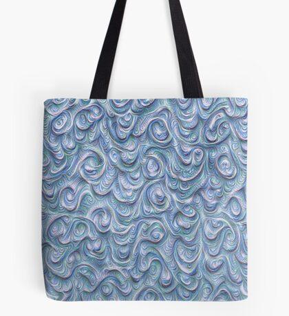 Surface texture #DeepDream #Art Blue Tote Bag