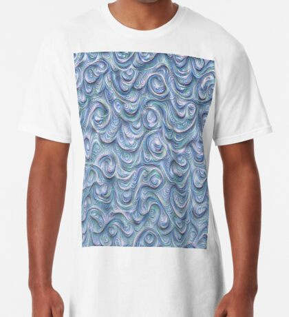 Surface texture #DeepDream #Art Blue Long T-Shirt