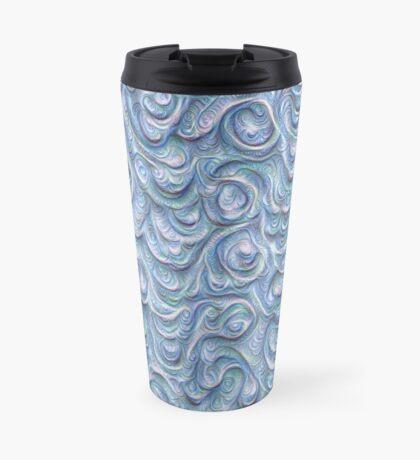 Surface texture #DeepDream #Art Blue Travel Mug