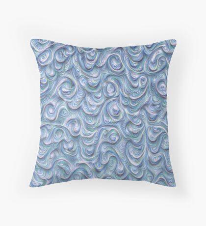 Surface texture #DeepDream #Art Blue Floor Pillow