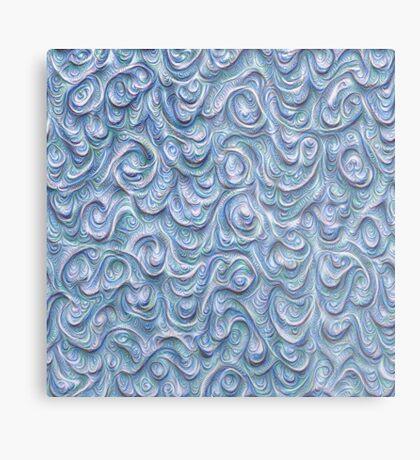 Surface texture #DeepDream #Art Blue Metal Print
