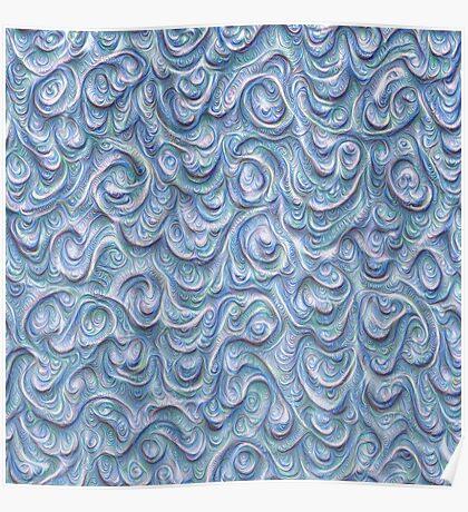 Surface texture #DeepDream #Art Blue Poster