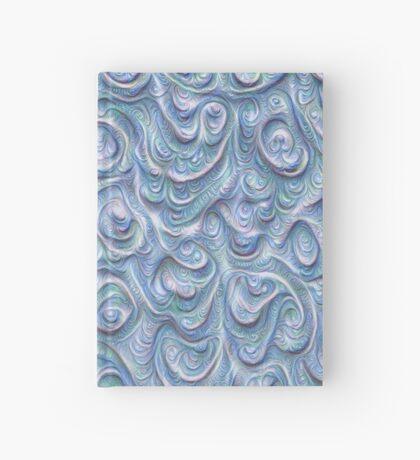 Surface texture #DeepDream #Art Blue Hardcover Journal
