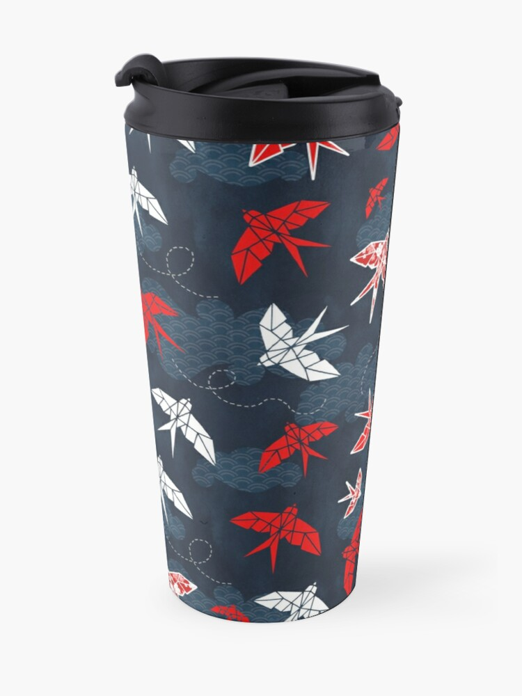 Alternate view of Origami Swallow Navy Blue Travel Mug