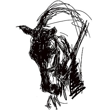 Dressage Horse Drawing  by NinaSMART