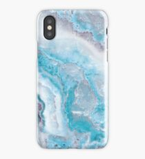 Luxury Mermaid Blue Agate Marble Geode Gem iPhone XS Case