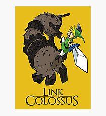 Link y el Coloso Lámina fotográfica