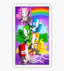 Castle crashers sticker v2 Sticker