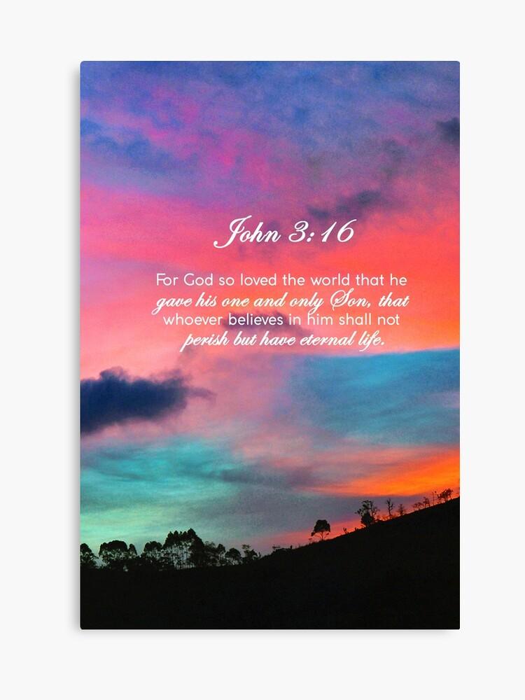 John 3:16 NIV #19 - Bible Verse Wall Decor | Canvas Print