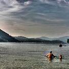 Dusk Swim at Newfound by Wayne King