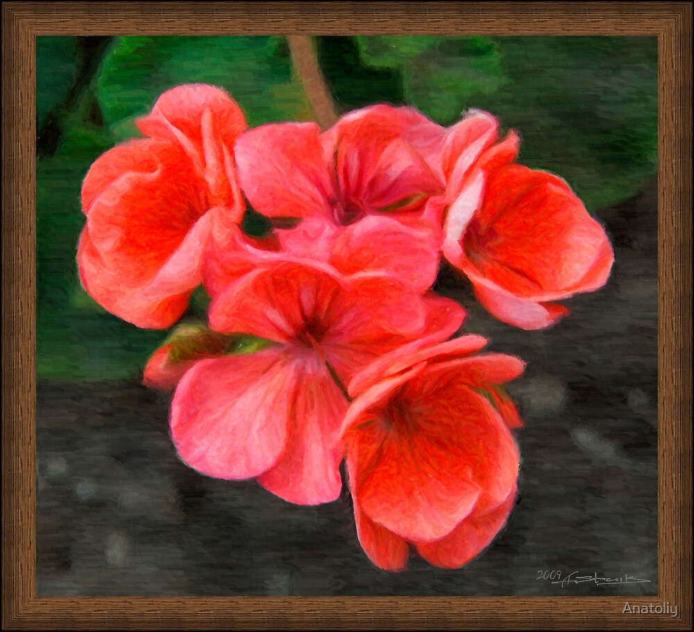 red flowers - oil style by Anatoliy