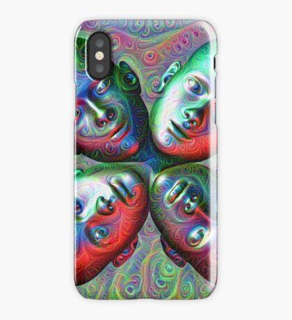 #DeepDream Masks - Heads 5x5K v1455792443 iPhone Case