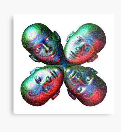 #DeepDream Masks - Heads 5x5K v1455792443 Metal Print