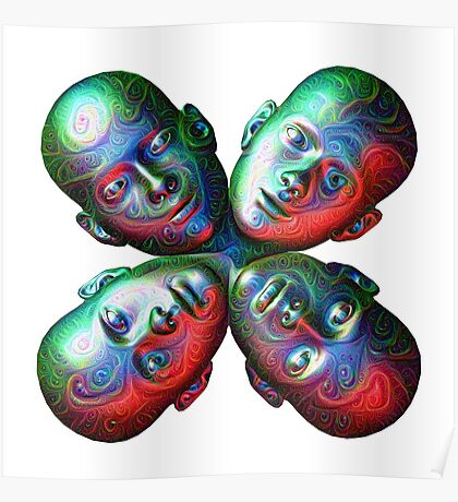 #DeepDream Masks - Heads 5x5K v1455792443 Poster
