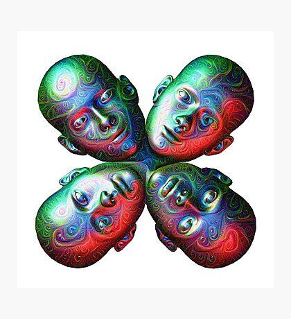 #DeepDream Masks - Heads 5x5K v1455792443 Photographic Print