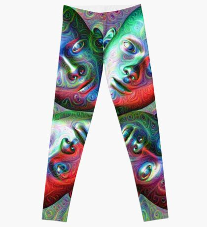 #DeepDream Masks - Heads 5x5K v1455792443 Leggings