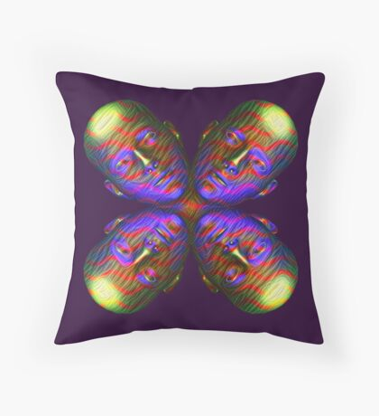 #DeepDream Masks - Heads - Butterfly 5x5K v1455803831 Throw Pillow