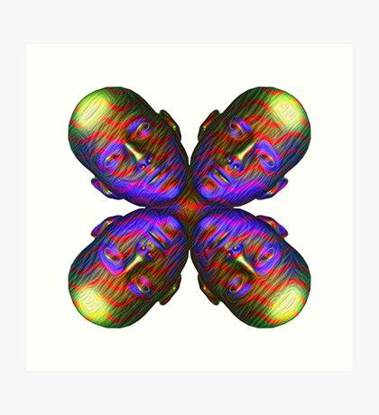 #DeepDream Masks - Heads - Butterfly 5x5K v1455803831 Art Print