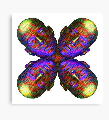 #DeepDream Masks - Heads - Butterfly 5x5K v1455803831 Canvas Print