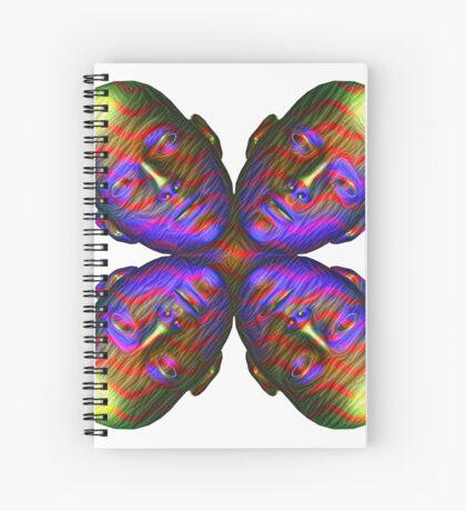 #DeepDream Masks - Heads - Butterfly 5x5K v1455803831 Spiral Notebook