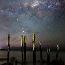 Old Port Willunga Jetty and Galaxy by pablosvista2