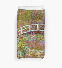 Monet - Bridge in Monet's Garden Duvet Cover