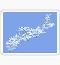 Nova Scotia Word Art Sticker