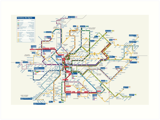 Map Of France Rennes.Rennes Metro Map France Art Prints By Superfunky Redbubble