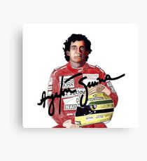 ayrton senna pilot formula 1 world champion race brazil brasil Canvas Print