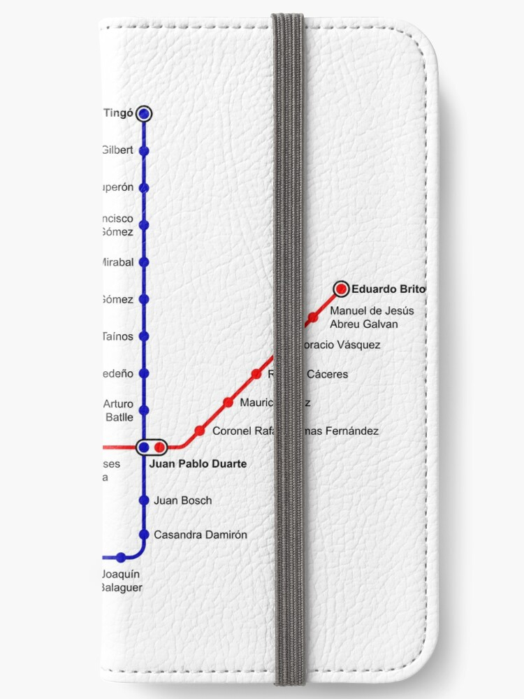 Santo Domingo Metro Map.Santo Domingo Metro Map Dominican Republic Iphone Wallets By