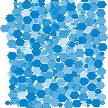Hexagons - Blue by annumar