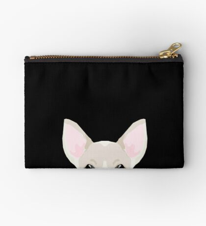 Chihuahua peeking dog breed cute chihuahuas gifts for dog moms pure breed  Zipper Pouch