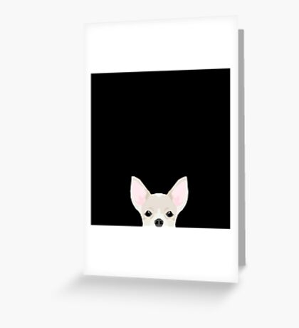 Chihuahua peeking dog breed cute chihuahuas gifts for dog moms pure breed  Greeting Card