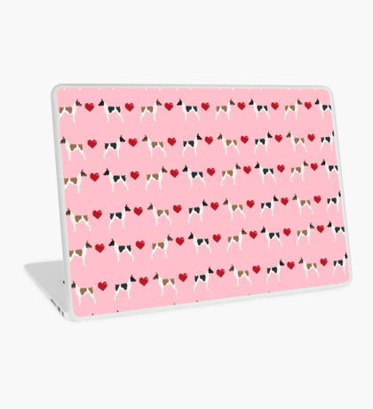 Rat Terrier love hearts dog breed pet art dog pattern gifts unique pure breed Laptop Skin