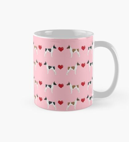 Rat Terrier love hearts dog breed pet art dog pattern gifts unique pure breed Mug