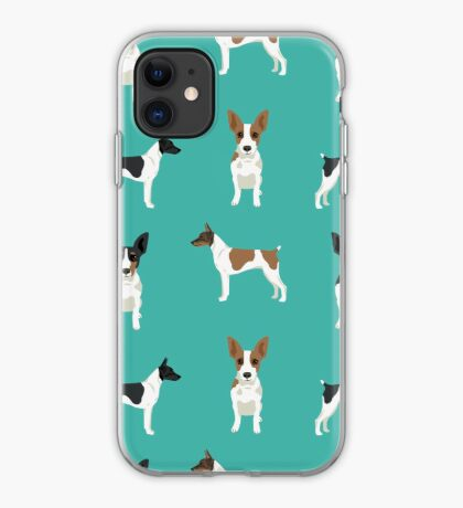 Rat Terrier dog breed pet art dog pattern gifts unique pure breed iPhone Case